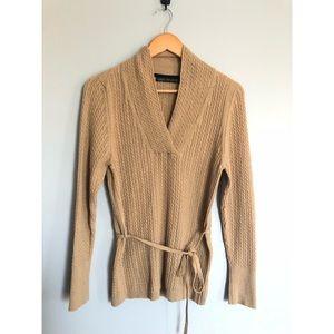 Camel Lambs Wool Sweater